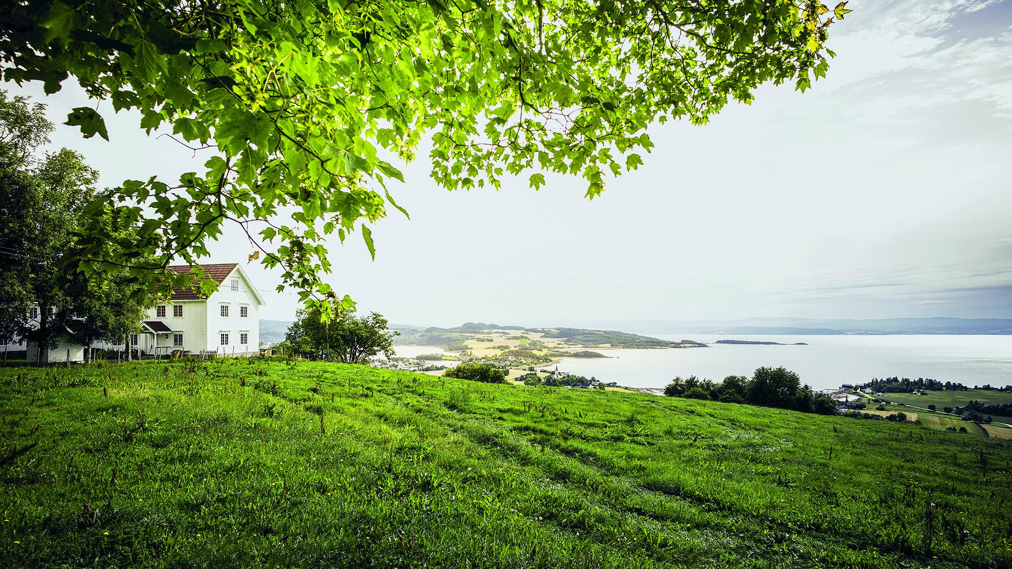 Utsikt over Inderøy. Foto: Jarle Hagen