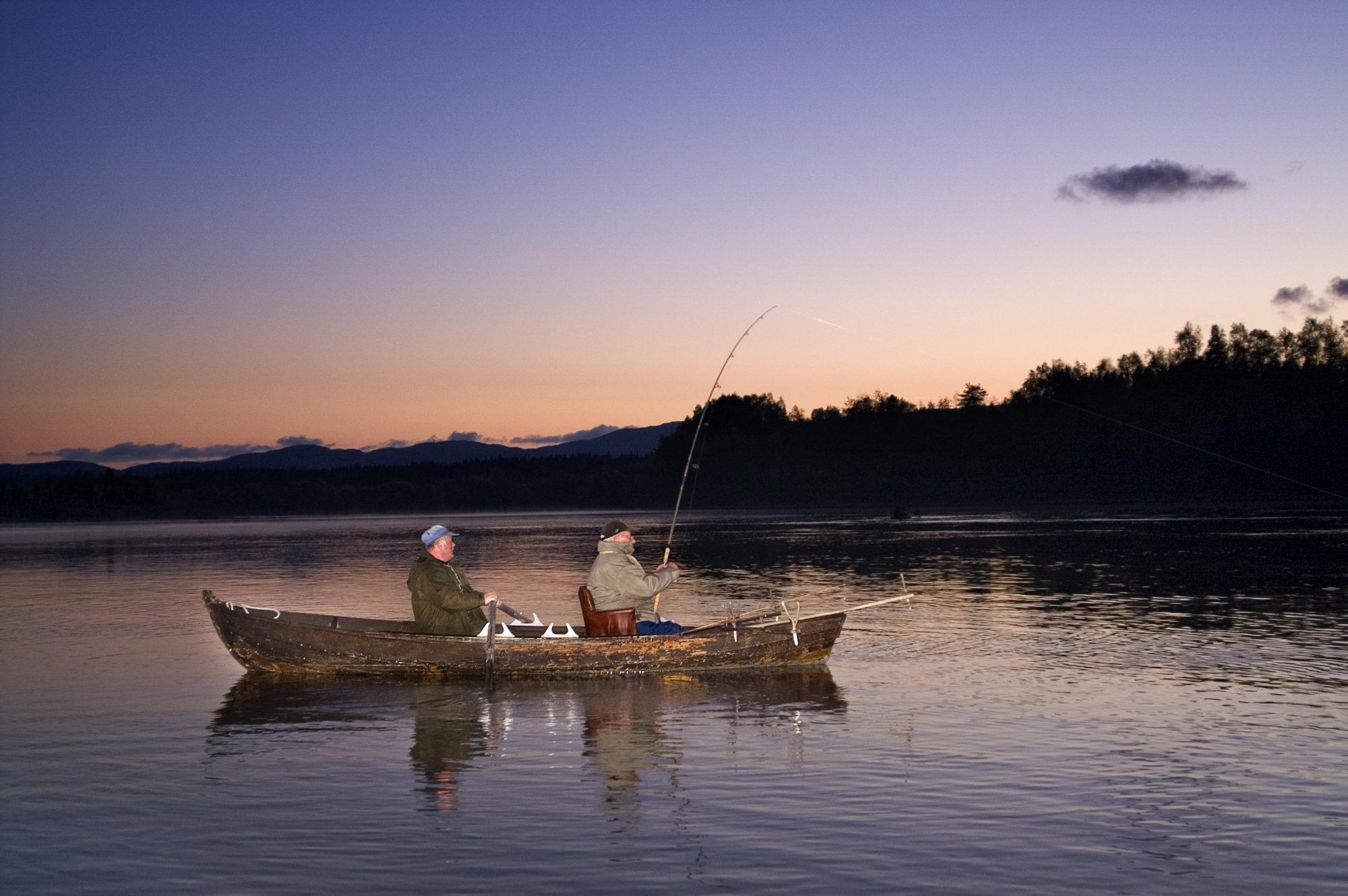 Laksefiske i Namsen. Foto: Steinar Johansen