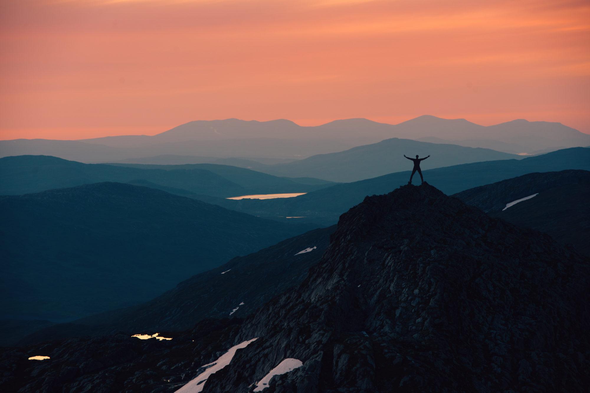 Kveldsutsikt i Børgefjell nasjonalpark. Foto: Bernartwood / trondelag.com