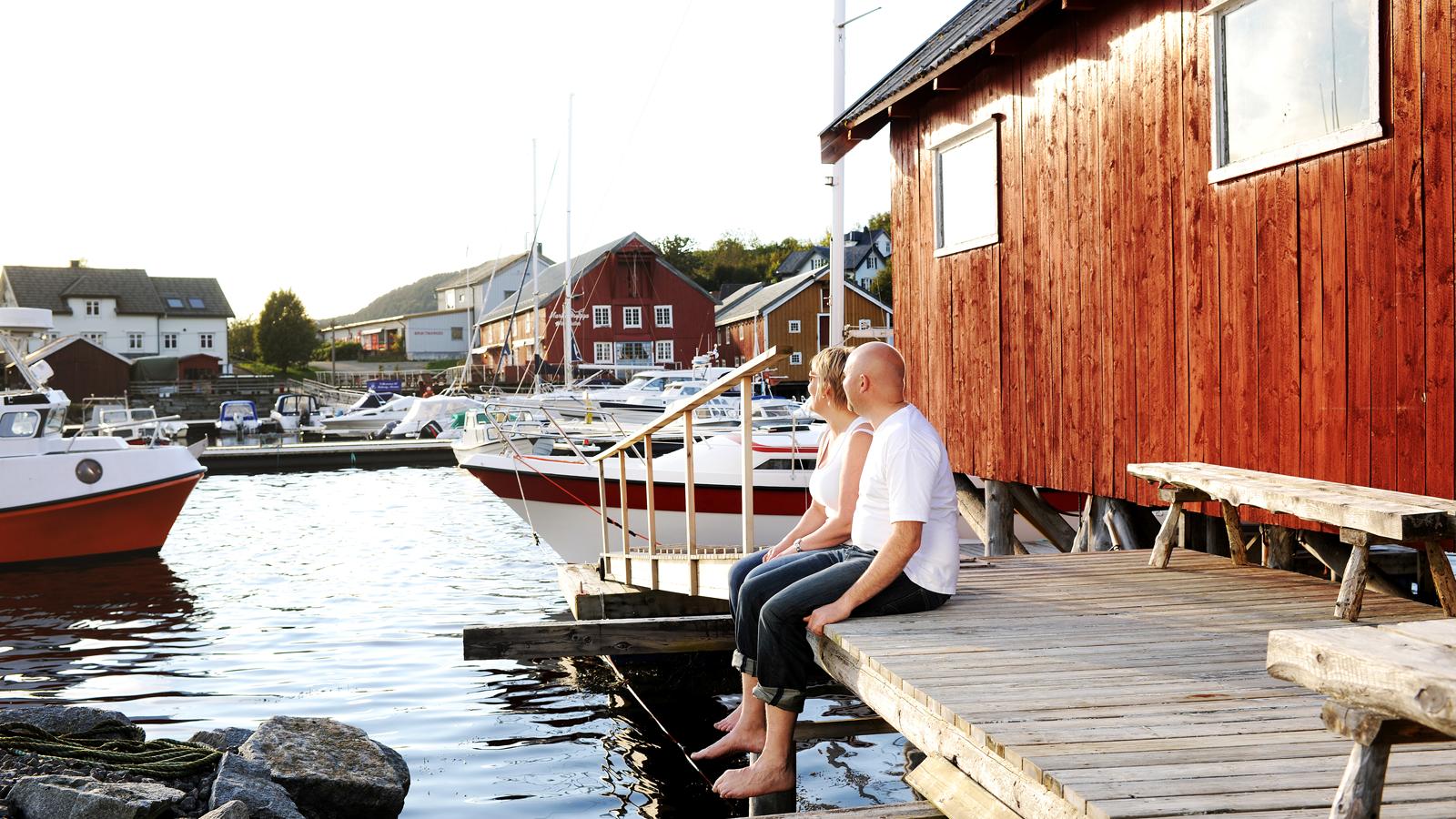 Fiskelandsbyen Råkvåg på Fosen. Foto: Marius Rua