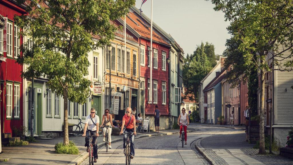 Bakklandet i Trondheim. Foto: Søderholm - Steen / trondelag.com