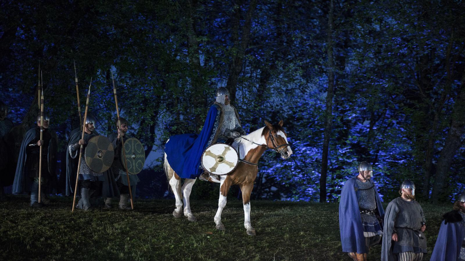 Spelet om Heilag Olav på Stiklestad, Trøndelag. Foto: SNK