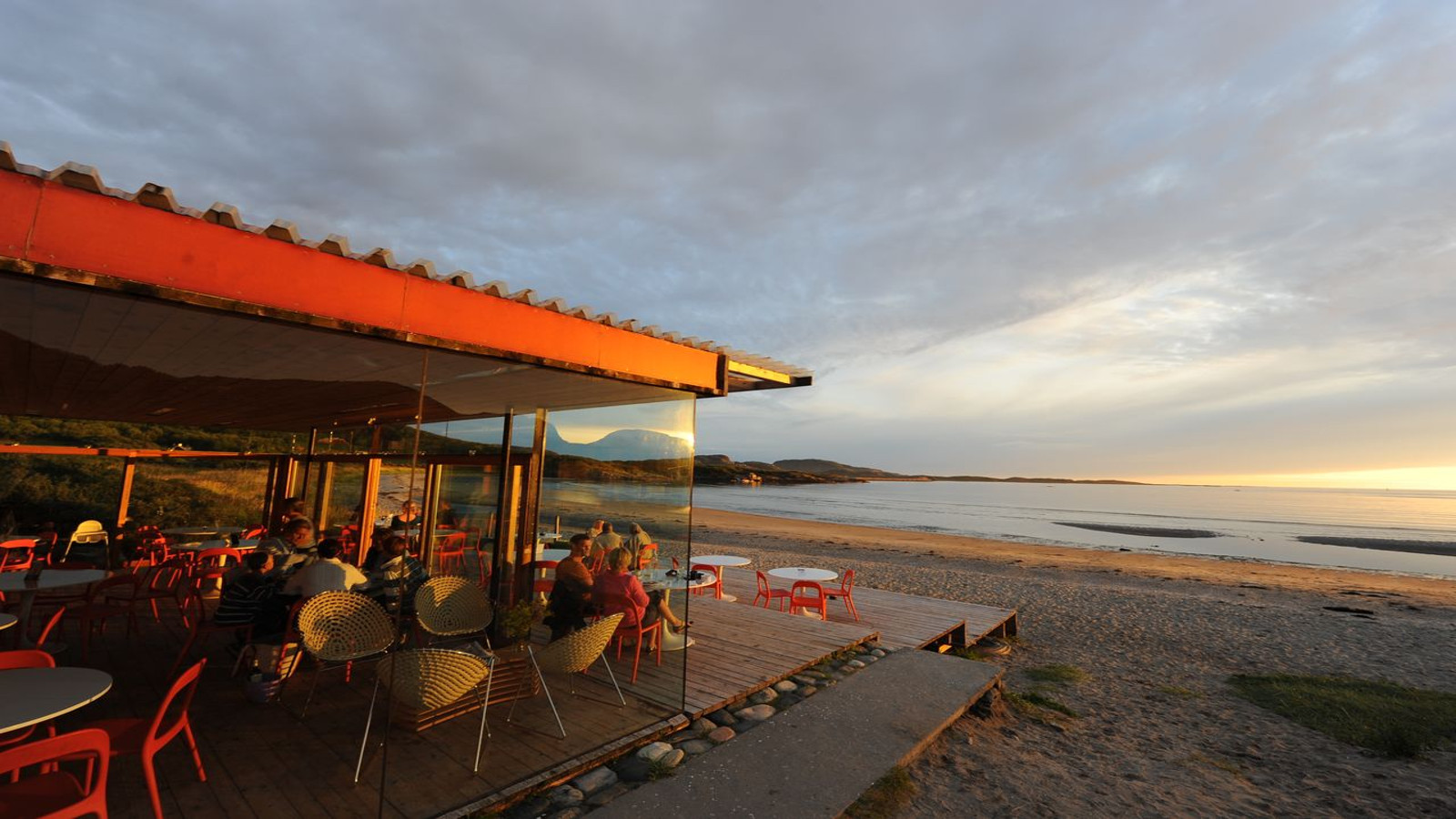 Strandbaren på Stokkøya Sjøsenter i Åfjord, Trøndelag, Foto: Tuva Klevan