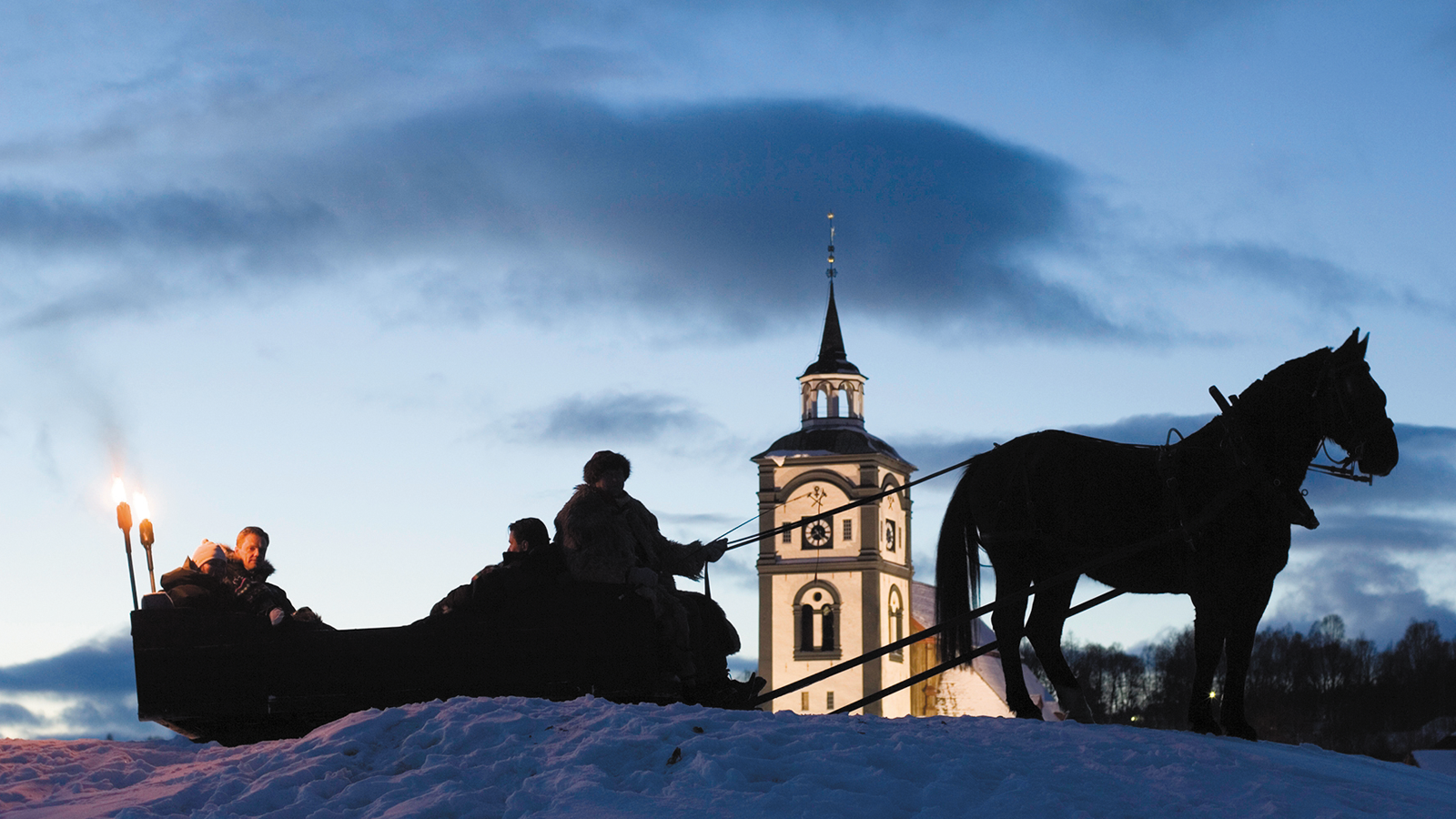 Kanefart på Røros i Trøndelag, Foto: Morten Brun/Røros Hotell