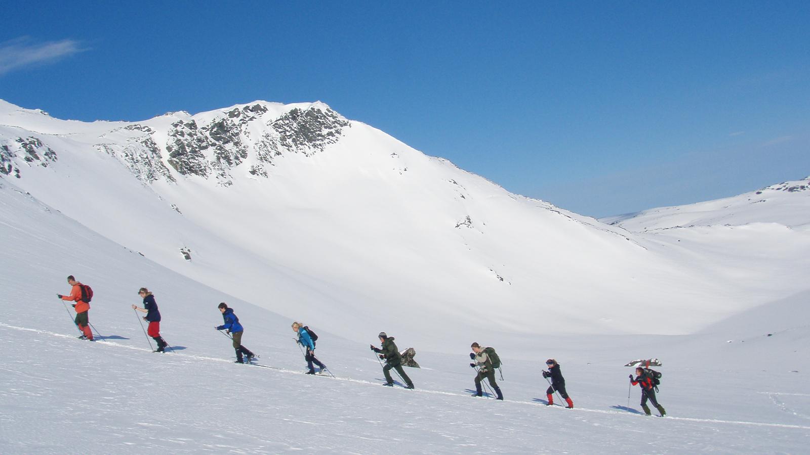 Skitur i fjellene i Oppdal. Foto: Sigbjørn Frengen