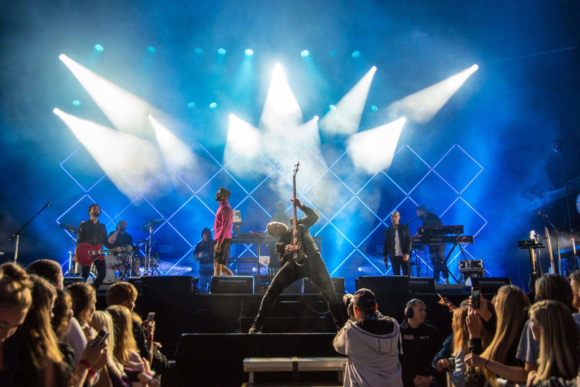 Karpe Diem konsert i Borggården. Foto: Siw Hermanstad / Olavfestdagene