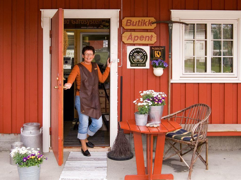 Gårdsbutikken på Gangstad Gårdsysteri, Den Gyldne Omvei på Inderøy, Innherred i Trøndelag, Foto: Innherred Reiseliv
